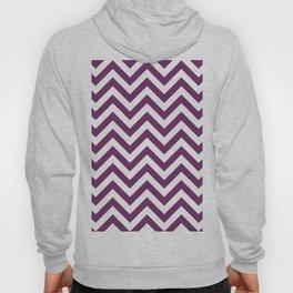 Byzantium Purple Chevrons Pattern Hoody