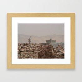 woman in Tichit Framed Art Print