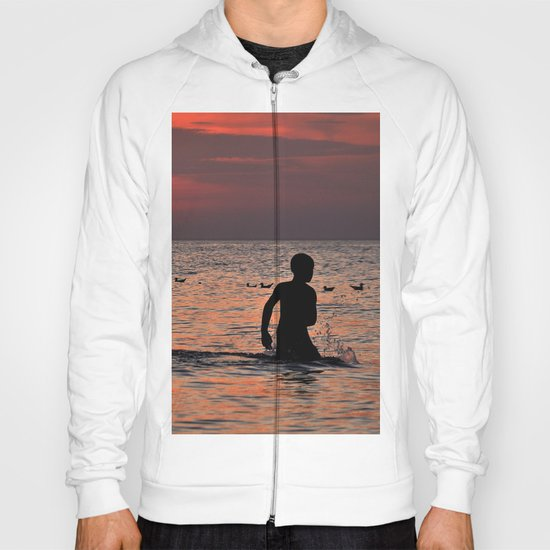 RED SUNSET - BALTIC SEA  Hoody