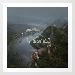 A different view of The Great Wall of China Art Print