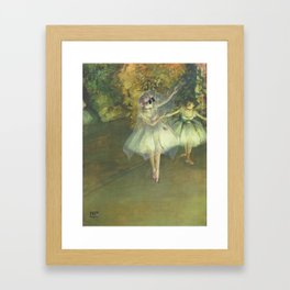 """Ghost Dancer on a Stage"" / Edgar Degas Framed Art Print"