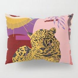 The Big Eye Leopard abstract Pillow Sham