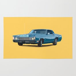 Vintage car solid colour Rug