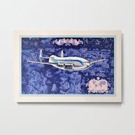 1953 Air France Provence Bréguet Advertising Poster Metal Print