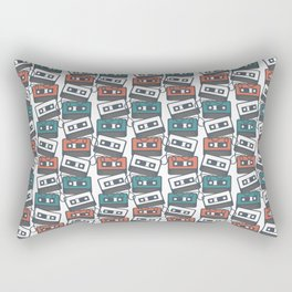 Cassette Tape Pattern Rectangular Pillow