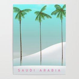 Saudi Arabia Travel poster Poster