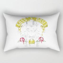 guns and rose hat Rectangular Pillow