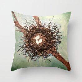 Birdnest Throw Pillow