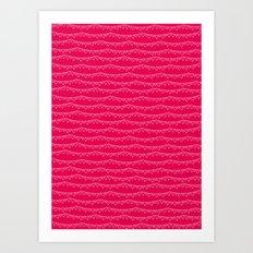 Red & White Heart Garland Art Print