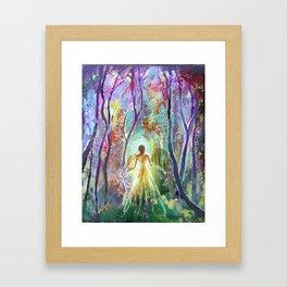 Dance of the Changing Leaves Framed Art Print