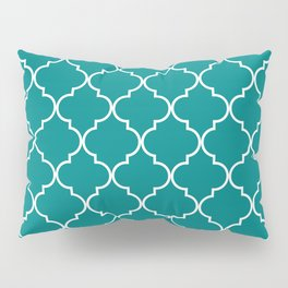 Quatrefoil - Teal Pillow Sham