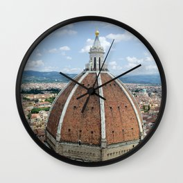 florence cathedral, italy. Wall Clock