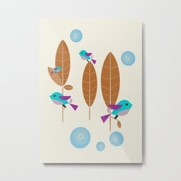 Birdies Tweet Metal Print