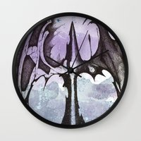 bats Wall Clocks featuring bats by Will Baten