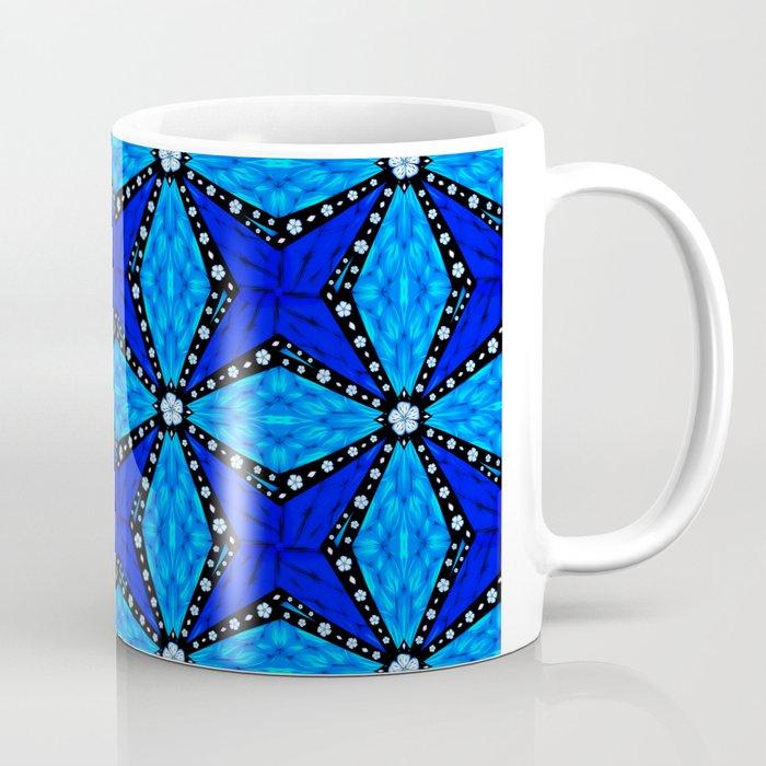 Onyx Beams of Flowers and Gems Coffee Mug