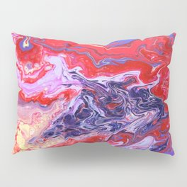 Red and Purple Cosmos Pillow Sham