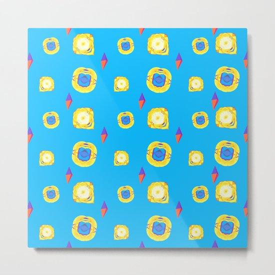 yellow substances in a blue matter Metal Print