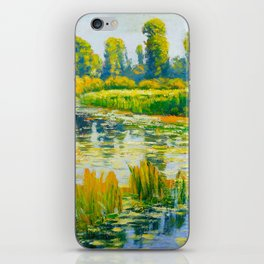 Václav Radimský (1867-1946) Water Lilies Impressionist Landscape Painting Bright Colors Oil iPhone Skin