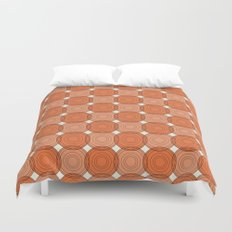 Red & Orange Circles Duvet Cover