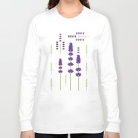 lavender Long Sleeve T-shirts featuring Lavender by Alysha Dawn