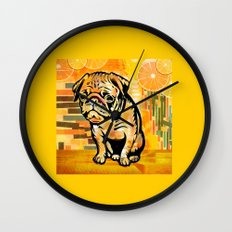 Pug pop art Wall Clock