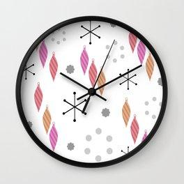 Mid Century Modern Winter Wall Clock