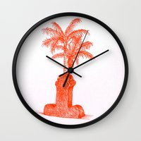 shiva Wall Clocks featuring Shiva. by Laramo