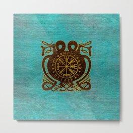 Vegvisir - Viking  Navigation Compass Metal Print