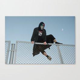 Hopping Fences Canvas Print
