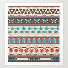 Fair-Hyle Knit Art Print