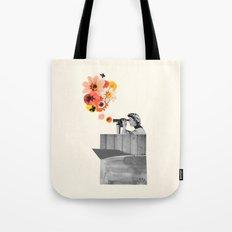 in bloom (black & white) Tote Bag