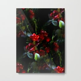 Photo Painting of a Bouquet of Roses Metal Print