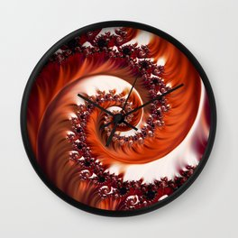 Beautiful Crimson Passion - The Heart of the Rose Fractal Wall Clock