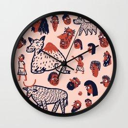 Desert People Wall Clock