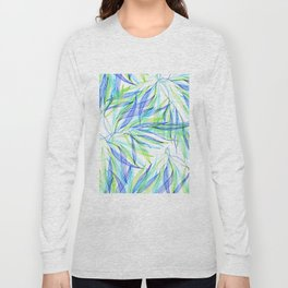 Underwater Forest #2 -Line drawing leaves Long Sleeve T-shirt