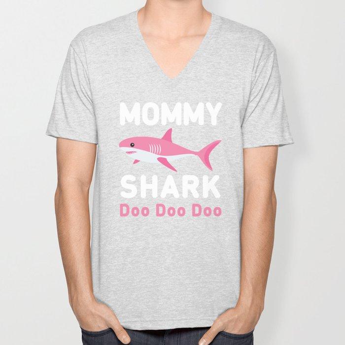 Mommy Shark Unisex V-Neck