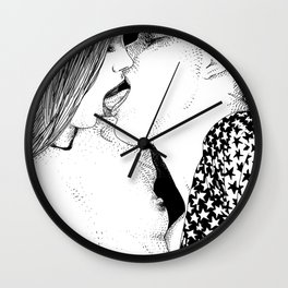 asc 218 - Le contrôle ( She can control the horse) Wall Clock