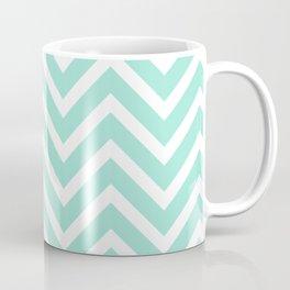 Chevron Stripes : Seafoam Green & White Coffee Mug