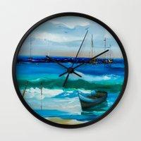 marina Wall Clocks featuring Marina by Willy Perez