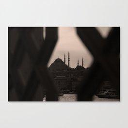 Süleymaniye Mosque , Istanbul/TURKEY Canvas Print