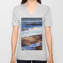 Waves Sand Stones Unisex V-Neck