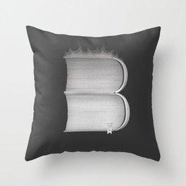 "B - Ray Bradbury ""Fahrenheit 451"" Throw Pillow"