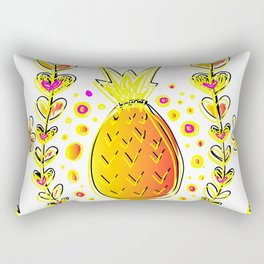 Pineapple Daisy Floral Gradient Rectangular Pillow