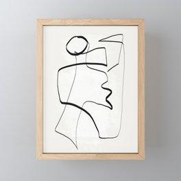 Abstract line art 6 Framed Mini Art Print