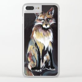 Fox Fire Clear iPhone Case
