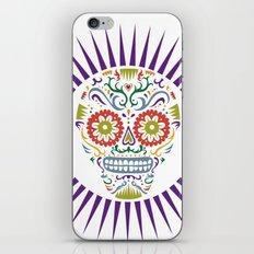 Sugar Skull SF multi 2 - on white iPhone & iPod Skin