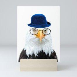 Funny Eagle Portrait Mini Art Print