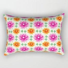 Pink and orange cacti flower Rectangular Pillow