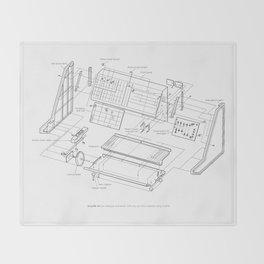 Korg MS-10 - exploded diagram Throw Blanket