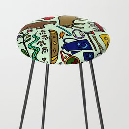 Camping In Color Counter Stool